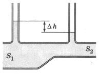 Горизонтальная труба переменного сечения