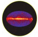 Фотография неба в гамма-лучах с энергией 100 МэВ