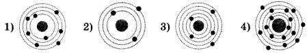 Схемы четырех атомов