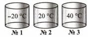Три сосуда с газом